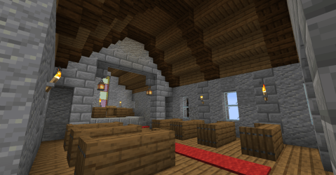 Minecraft Build Inspiration My medieval church built entirely in survival