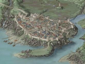 Fantasy Coastal Town Map 1