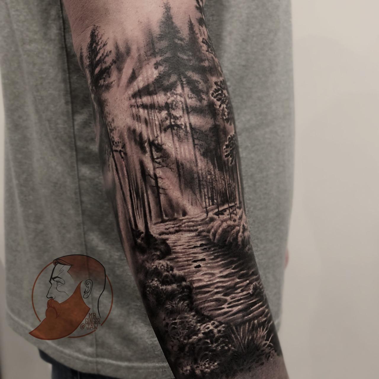 #tattoo #wolf #river #forest #flowers tattoo wolf, 3 tattoo,. River Tattoo Explore Tumblr Posts And Blogs Tumgir