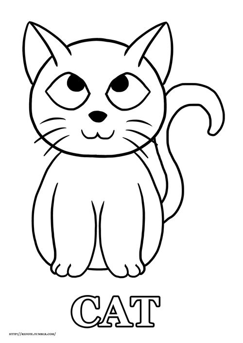 Basic Cat Drawing : basic, drawing, Resources, Teachers, Printable, Basic, Animals