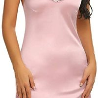 Women's Nightwear Sexy Satin Sleepwear Lace Chemises Mini Full Slip. This women's satin lace full slip chemi se lingerie is perfect for Sleepwear, Nightwear, Loungwear, Bride Wedding, Honeymoon Nights, Valentine's Day, Date Nig hts, Bedroom, Lingerie Party, or Special Nights. Fri, 15 Jan 2021 09:36:42 +0400