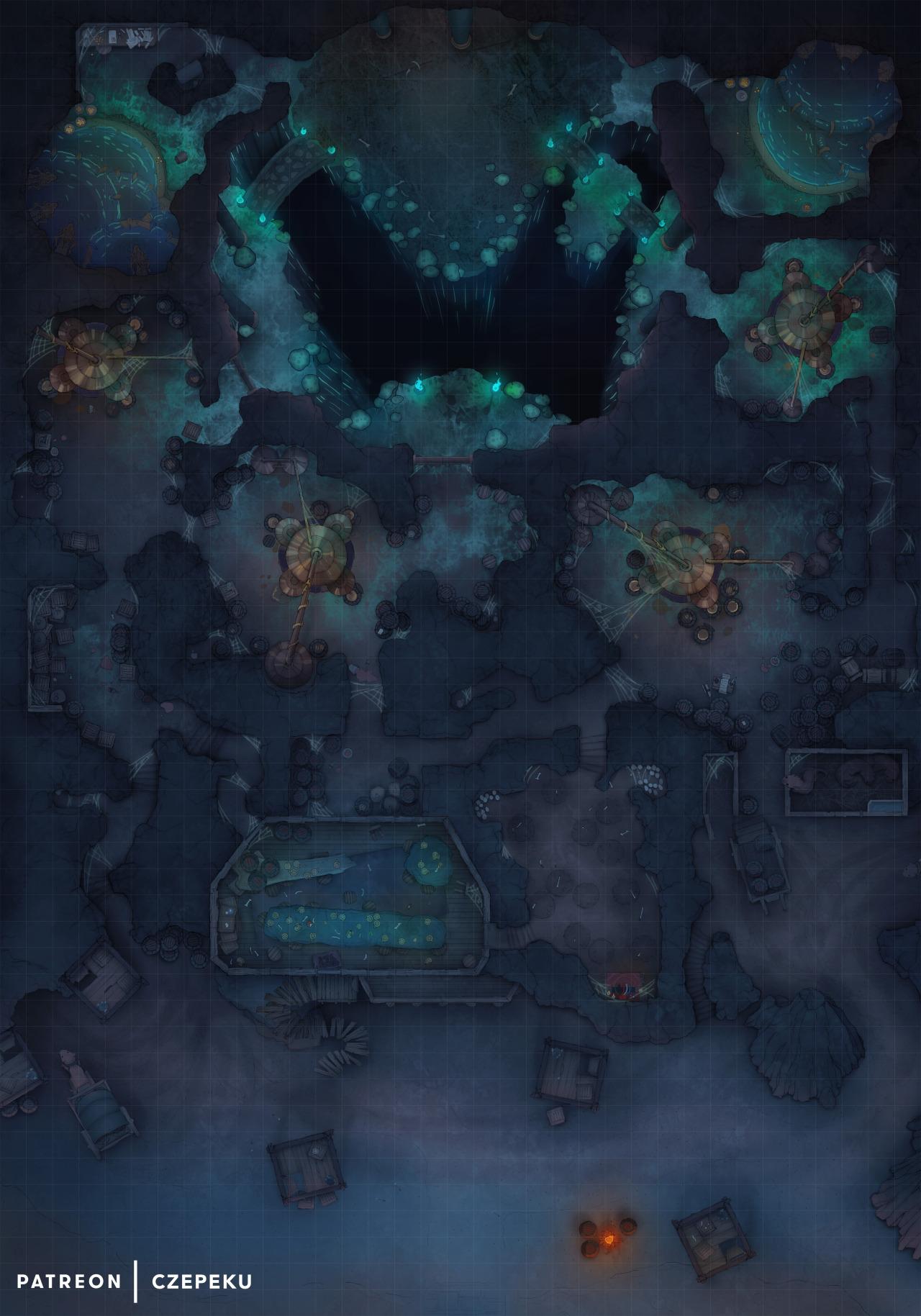 Underdark Map : underdark, Czepeku's, Entry, Underdark, Battlemap, Within, The...