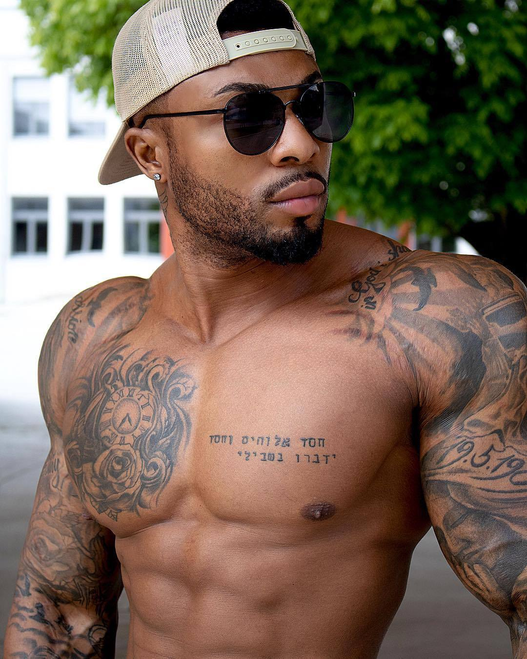 Black Men With Tattoos : black, tattoos, Black, Tattoos