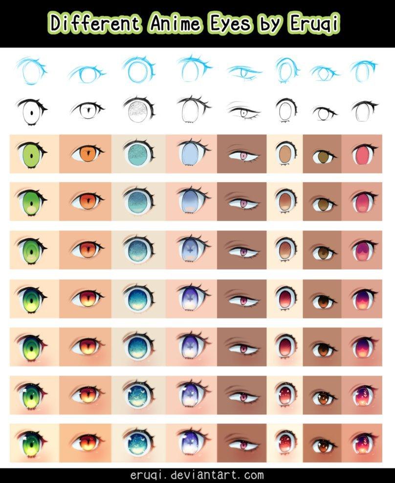 Different Anime Eyes : different, anime, Different, Anime, Eruqi