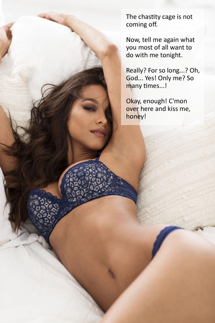 Flr Chastity Captions : chastity, captions, Chastity, Female, Fantasies, Picture, Husband., Back...