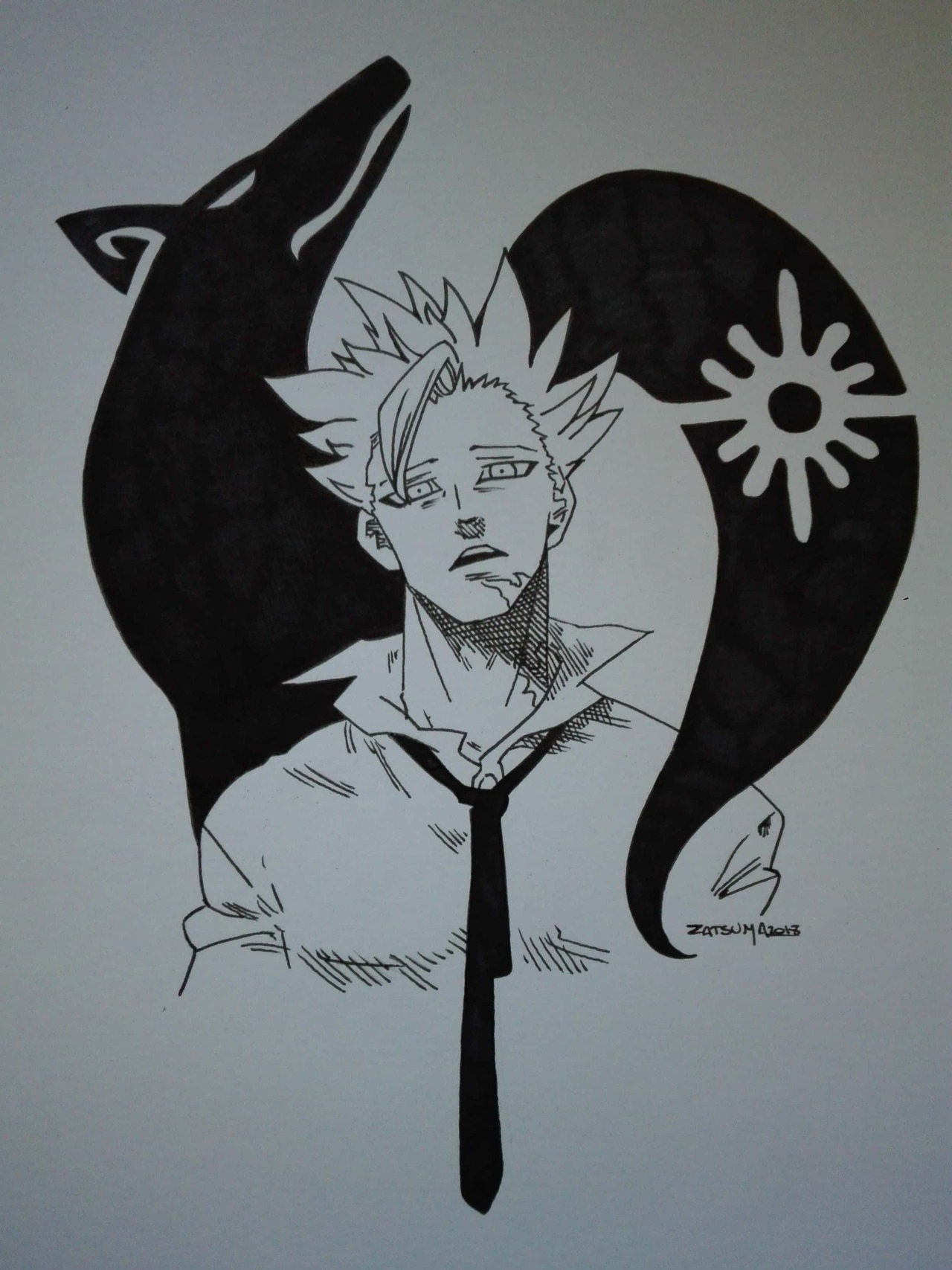How To Draw The Seven Deadly Sins : seven, deadly, Zatsuma, Fox's, Greed, Seven, Deadly, Sins,...