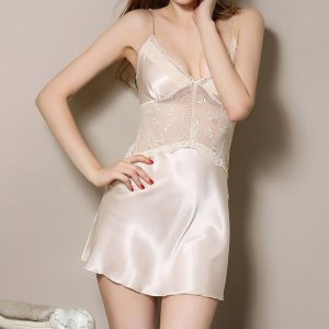 Women's Nightshirts Sexy Lingerie Lace Silk Strap Nightgowns. , Sat, 24 Apr 2021 09:36:50 +0100