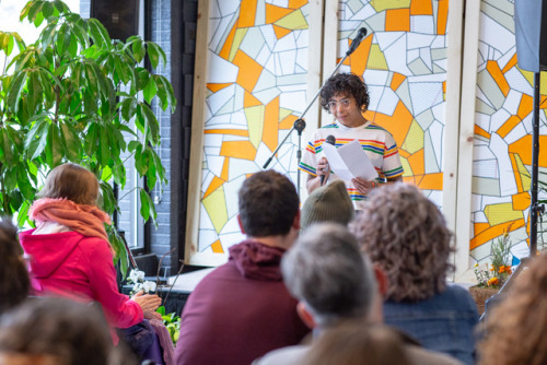 Day 5 / Poetry and Mimosas at the Owyee:Ashley Toliver, Ameerah Bader, Benjamin Schmitt, Audience, Heather Sweeney, Joe Davidson, Daphney Stanford, Lyd Havens, Sarah MangusoAS
