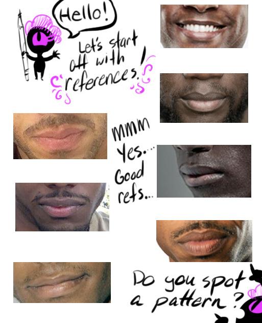 How To Draw Black Lips : black, Gonna, Break
