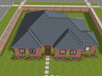 Sims Freeplay Original Designs This is a requested one story house design It