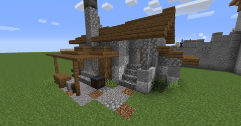 Minecraft Build Inspiration Another blacksmith workshop this time trying a