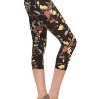 Premium Quality Ultra REGULAR and PLUS SIZE Soft Best Selling Capri Cropped Print Leggings. These feel AMAZING t hey are Capri, better priced Let's. I bought two and once I am done with this review I am purchasing more! I am well e ndowed on my bottom and have think thighs. I am a size 12 jeans (on a good day) and size large on regular leggings and e xercise pants. The one size fits me perfectly, not tight, not lose, doesn't hang low and I don't have to keep pullin g them up like I normally do with tights due to my large behind. I absolutely recommend these! NOTE the Lilac in Bloom i s not as pink as in the sellers picture. I've attached a picture of what it looks like in the sun. Mon, 15 Feb 2021 09 :36:43 +0400