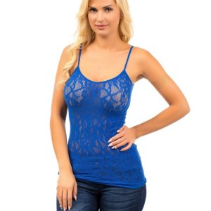 Allover lace brings a romantic touch to this camisole. The adjustable straps provide a custom fit. , Thu, 01 Apr 2021 14:24:43 +0100
