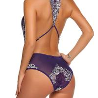 Women Sexy Halter Lace Deep V-Neck Floral See Through Lingerie Bodysuit. Featuring backless,floral lace patchwor k and halter,this lingerie bodysuit makes you sexy and charming. See through and deep v-neck design,this bodysuit is sui table for wedding , honeymoon, valentine's day, anniversary, bedroom, bathroom. Wed, 28 Oct 2020 19:12:38 +0400