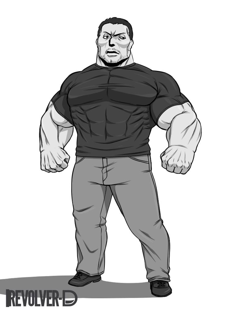 Buff Guy Drawing : drawing, Stuffs, Practice, Drawing