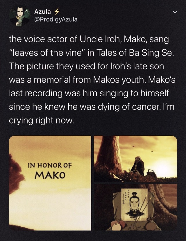 Uncle Iroh Voice Actor Died : uncle, voice, actor, Iwamatsu, Tumblr