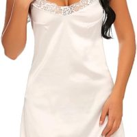 Women's Nightwear Sexy Satin Sleepwear Lace Chemises Mini Full Slip. This women's satin lace full slip chemi se lingerie is perfect for Sleepwear, Nightwear, Loungwear, Bride Wedding, Honeymoon Nights, Valentine's Day, Date Nig hts, Bedroom, Lingerie Party, or Special Nights. Mon, 30 Nov 2020 14:24:45 +0400