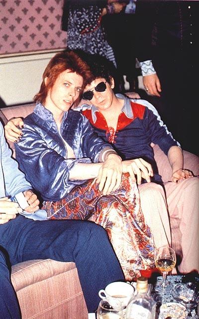 Lou reed e david bowie, musicisti di album del 1972