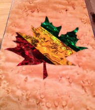 Custom rasta color maple leaf