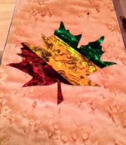 Custom rasta color maple leaf