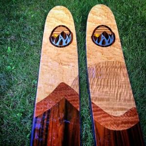 Ian Fund Skis close up