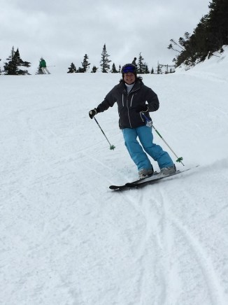 Sue testing out a pair of WhiteRooms