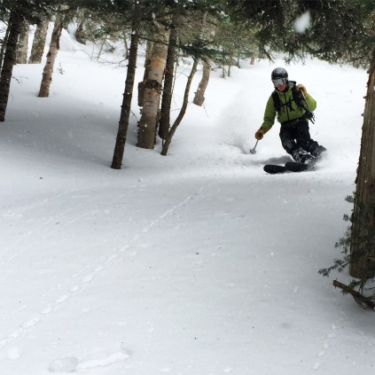 Matthew carving up the fresh VT tree lines