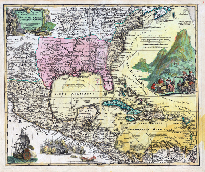 Map of New Spain | 64 Parishes