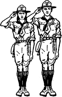 Girl and boy traditional scouts in uniform