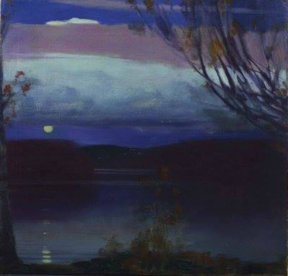 """huariqueje: """" Lake George - Edward Steichen , 1910 Luxembourgish ,1879-1973 Oil on canvas, 62.2 x 63.5 cm. (24.5 x 25 in.) """""""
