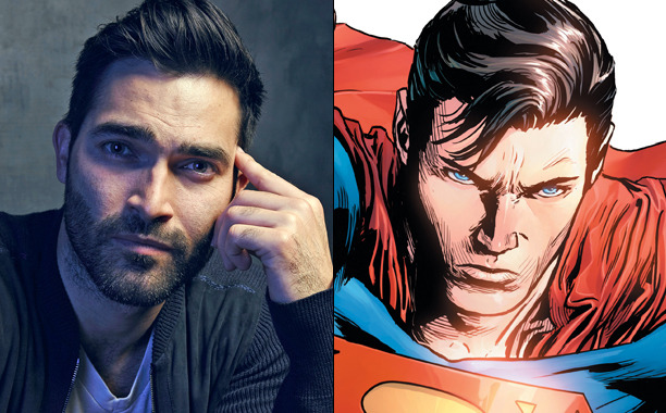 "entertainmentweekly: "" Supergirl has found its Superman! ""Teen Wolf star Tyler Hoechlin has been tapped to play the iconic role of Superman on The CW series "" """