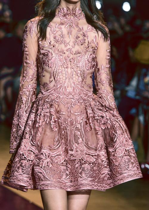 """runwayandbeauty: """"Detail at Zuhair Murad Haute Couture Fall/Winter 2016-17. """""""