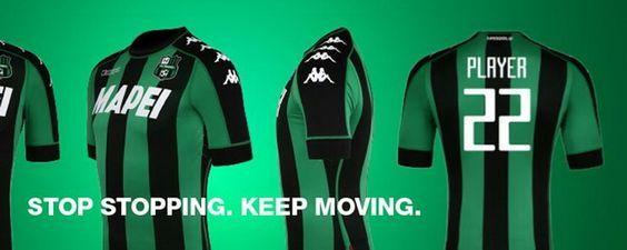 Le nouveau Maillot de foot Sassuolo pas cher Domicile 2016/2017 est maintenu très simple et discret. Il dispose traditionnelles rayures noires et vertes du club, tandis que les manches sont en vert avec une bande noire.