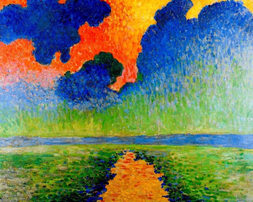 """terminusantequem: """" André Derain (French, 1880-1954), EFFET DE SOLEIL SUR LA TAMISE, 1906 """""""