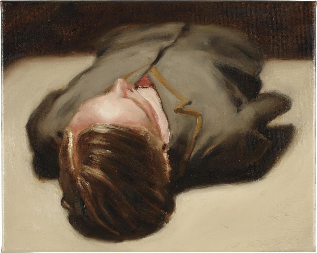 "thunderstruck9: "" Michaël Borremans (Belgian, b. 1963), Torso, 2009. Oil on canvas, 40 x 50 cm. """