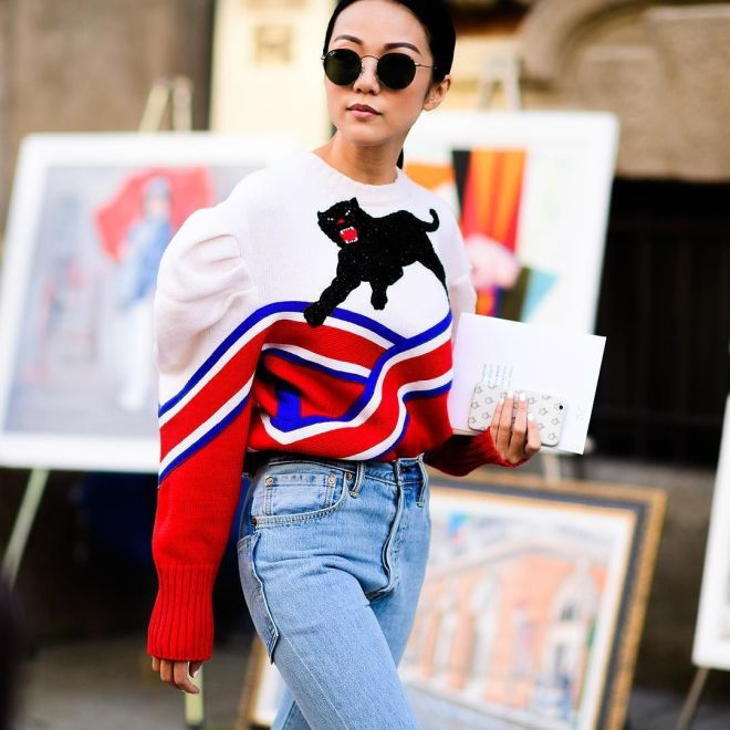 If you're going to invest in one statement piece this season, let it be one of #Gucci's whimsical sweaters. We particularly love this wool style – it's perfect for cosy-chic days in the city. #FW16 #streetstyle #mytfashionweek #mytheresa #buytheresa...