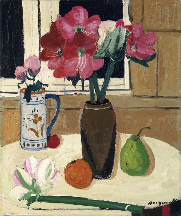 "thunderstruck9: "" Georges Borgeaud (Swiss, 1913-1998), Stillleben an Fenster [Still Life at a Window]. Oil on canvas, 55 x 46 cm. """