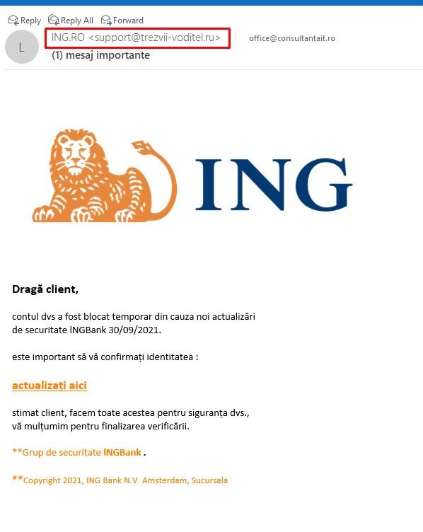 Un nou virus circula pe adresele de mail. Atenție posesorilor de carduri ING.