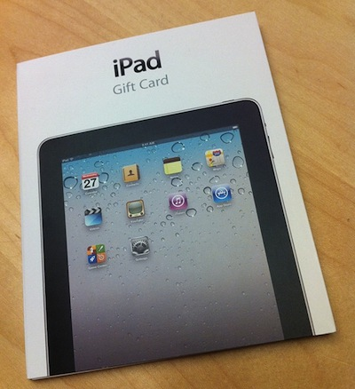 IPad Gift Cards Spotted At Apple Stores – MacStories