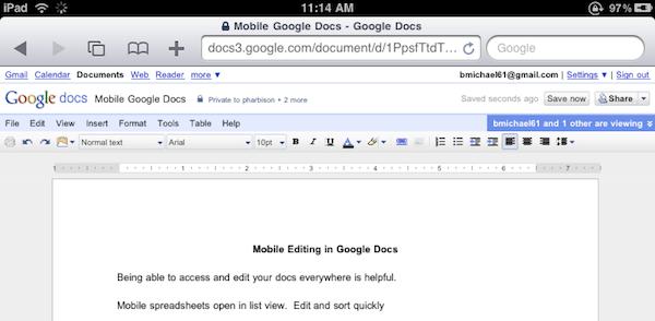 Google Docs Desktop Editing Comes To The iPad MacStories