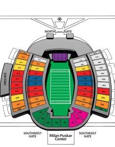 Seating milan puskar stadium also west virginia athletics rh
