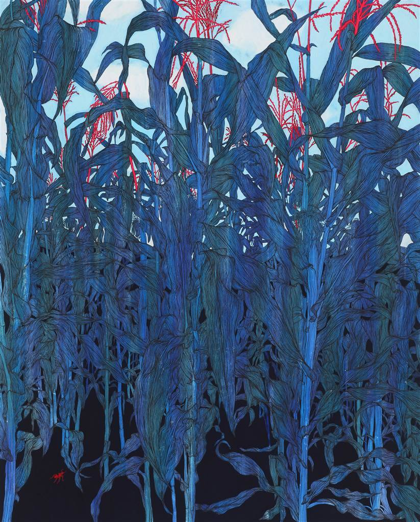 "eiruvsq:  Artist: Su-Jeong Nam ""Midsummer"" Ink on Paper 39"" x 32""  http://www.agora-gallery.com/artistpage/Su__Jeong_NAM.aspx"