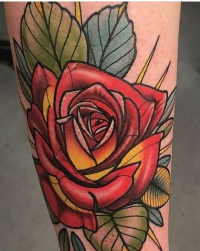 Neotraditional Rose Tattoo : neotraditional, tattoo, Traditional, Tattoos, Tattoo, Designs, Ideas