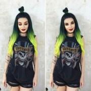dark green hair dye