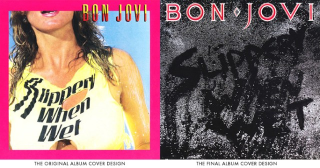 Resultado de imagen de bon jovi slippery when wet original album cover
