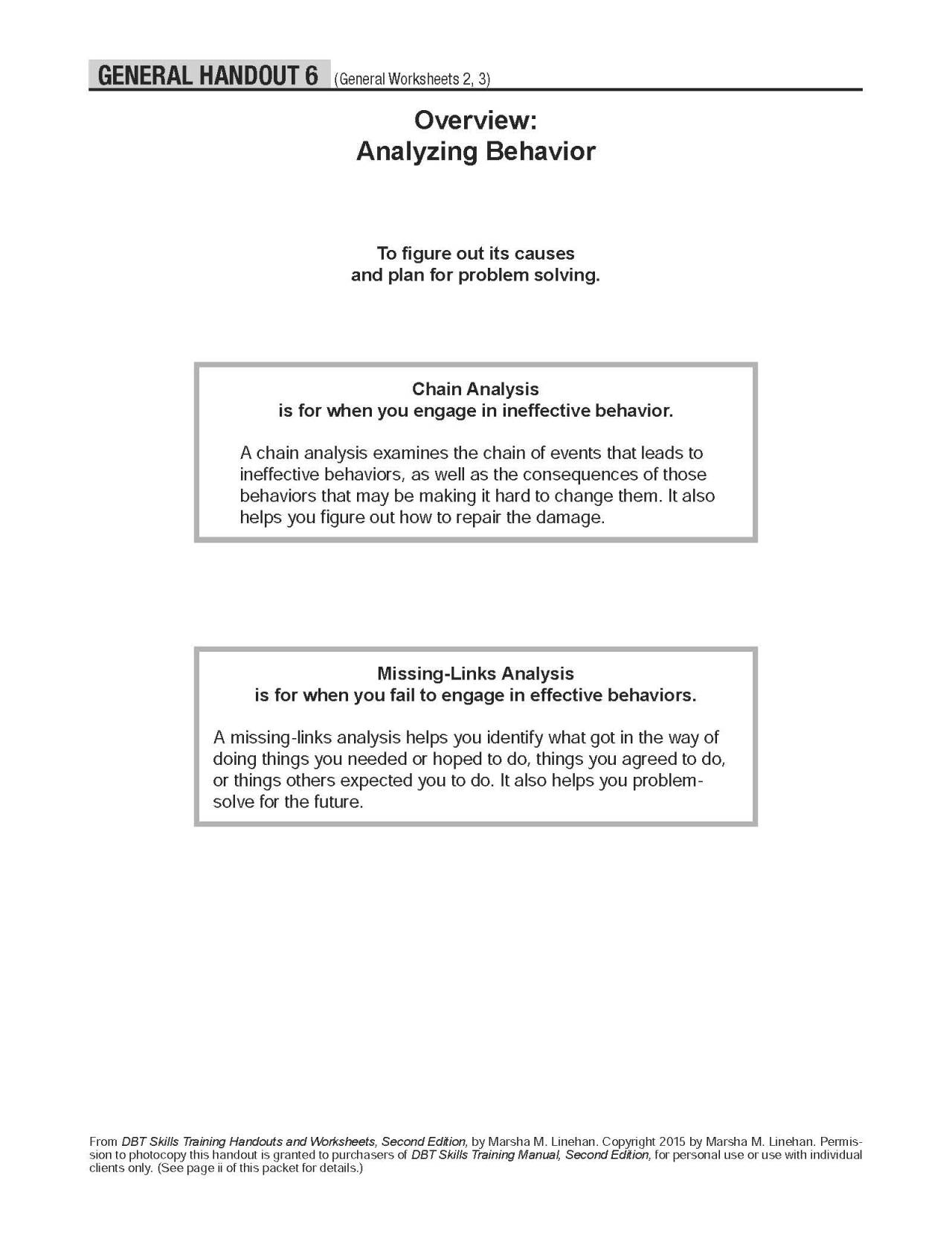 Behavior Chainysis Worksheet
