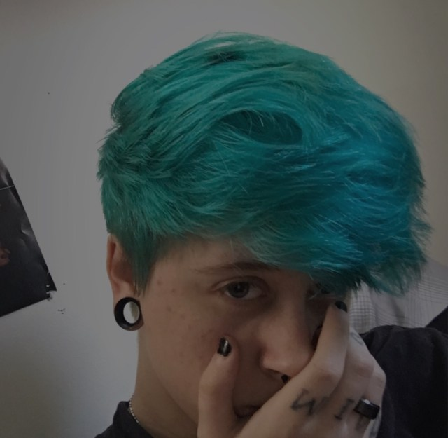 emo boy with blue hair | tumblr