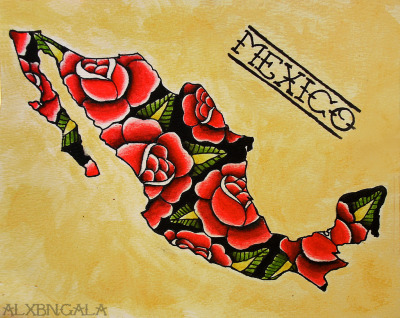 Mexican Tattoo Flash Art