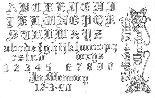 tattoo script on Tumblr