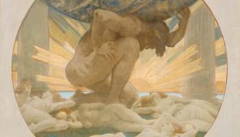 Sketch for Atlas and the Hesperides by John Singer… – Art